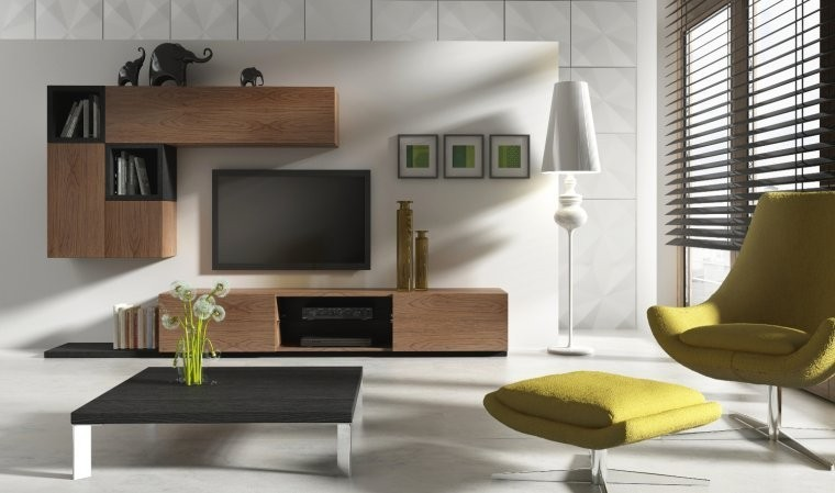 meuble tv bas notte a mobilier pour salon design. Black Bedroom Furniture Sets. Home Design Ideas