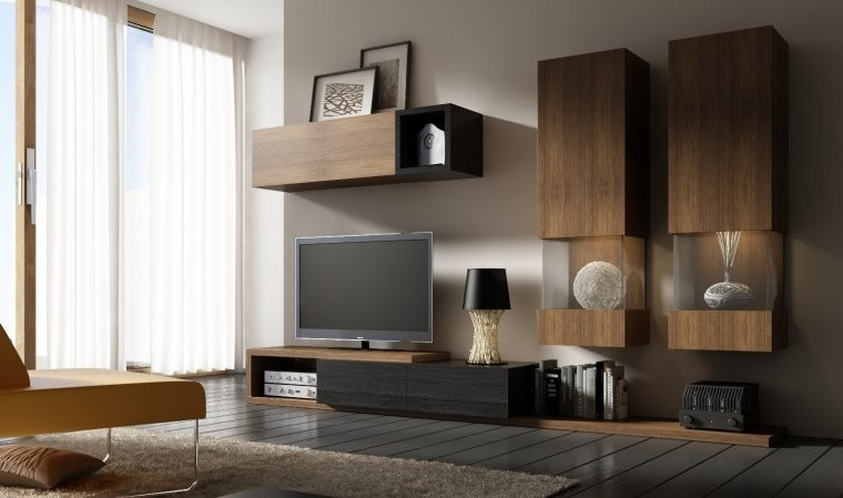 meuble tv design notte b meubles salon moderne. Black Bedroom Furniture Sets. Home Design Ideas