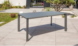 Table jardin verre anthracite