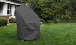 Housse de protection pour mobilier de jardin imperméable et gris