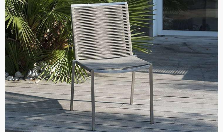 Chaise de jardin en inox Livorno - House and Garden