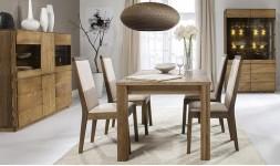 Table extensible en chêne brûlé 160 - 120 cm