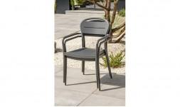 fauteuil jardin empilable antrhacite