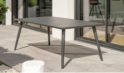 table repas jardin anthracite