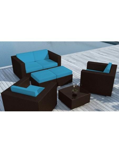 canape de jardin floride bleu