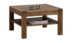 Table basse carrée en chêne massif 75 cm