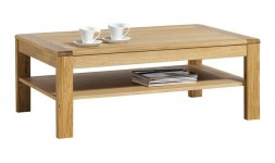 Table basse rectangulaire 120 cm en chêne massif