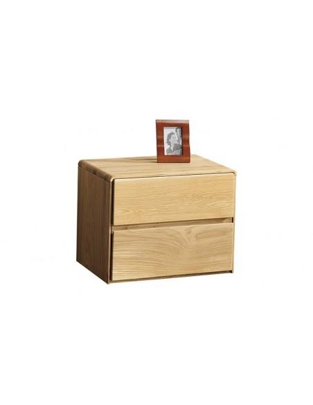 Chevet chêne brossé 2 tiroirs