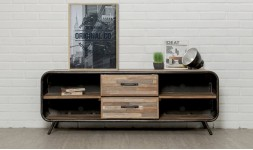 Meuble tv vintage en teck recyclé