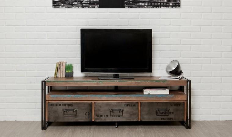 Meuble tv atelier en teck