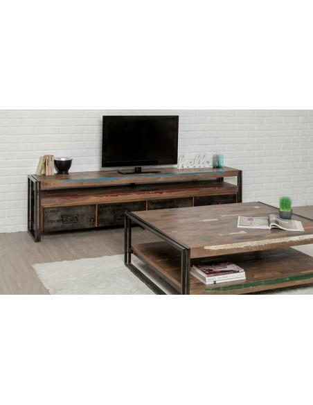 Grand meuble tv en teck