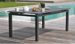 Table jardin extensible anthracite