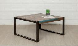 Table basse carrée teck recyclé