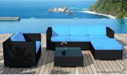 Salon jardin bleu