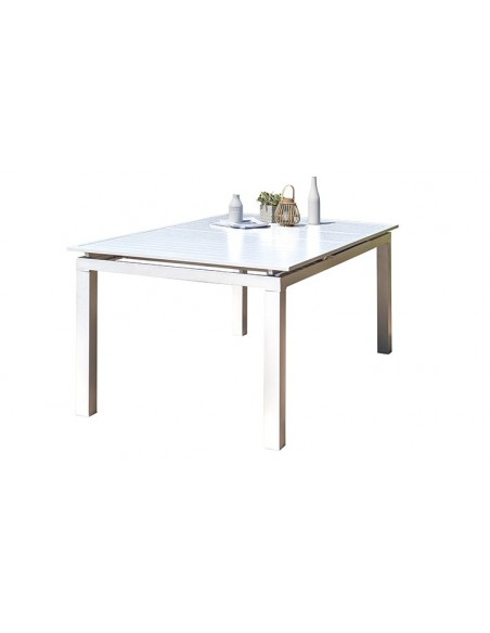 table jardin blanche extensible