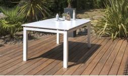 table jardin alu blanc