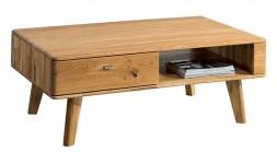 Table basse en chêne avec rangement