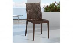 chaise jardin pvc chocolat