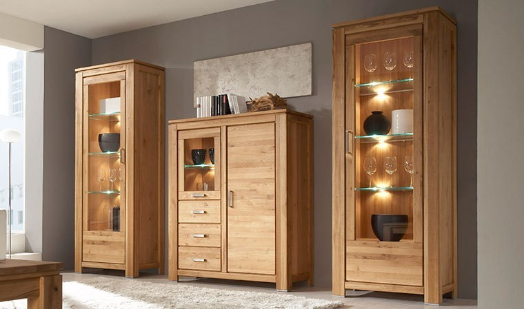 colonne de rangement en bois massif bois de chne. Black Bedroom Furniture Sets. Home Design Ideas