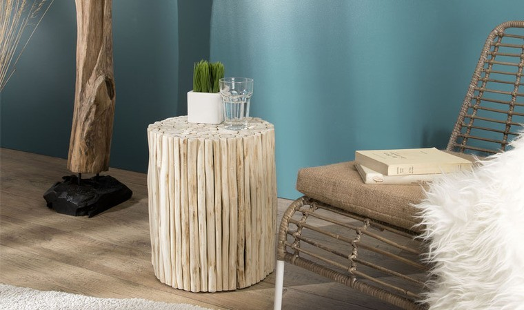 Table d'appoint teck
