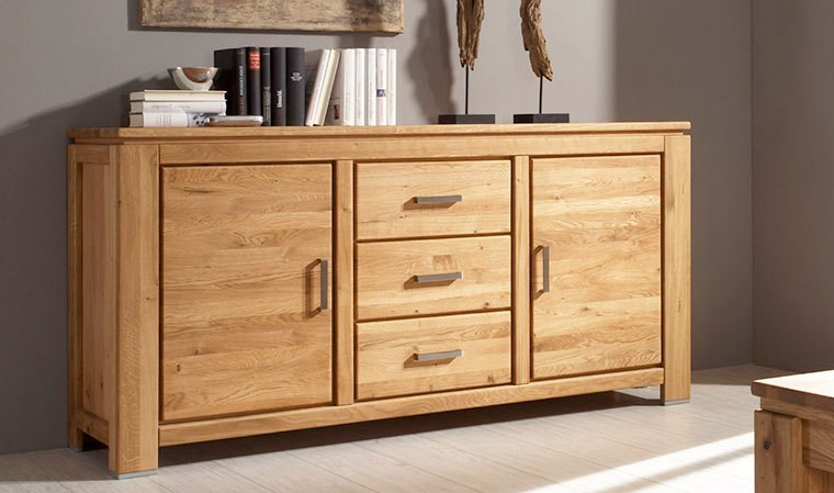 buffet en bois ch ne massif haut de gamme faro. Black Bedroom Furniture Sets. Home Design Ideas