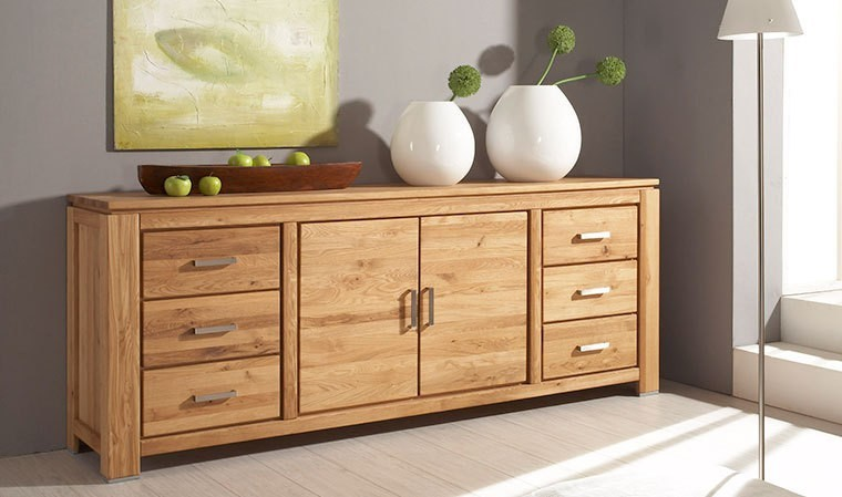 buffet en bois massif naturel pour salon ou salle manger. Black Bedroom Furniture Sets. Home Design Ideas