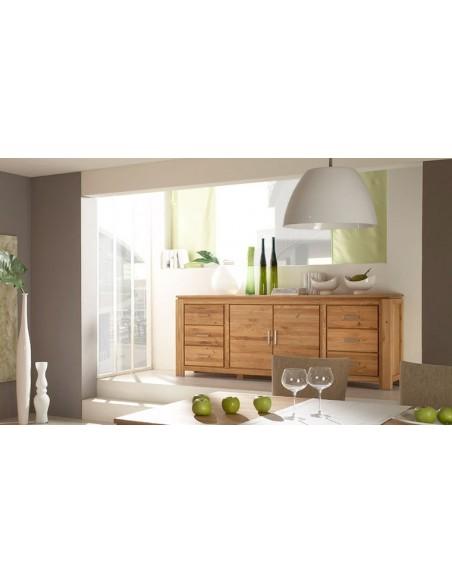 Buffet en bois naturel pour salle à manger