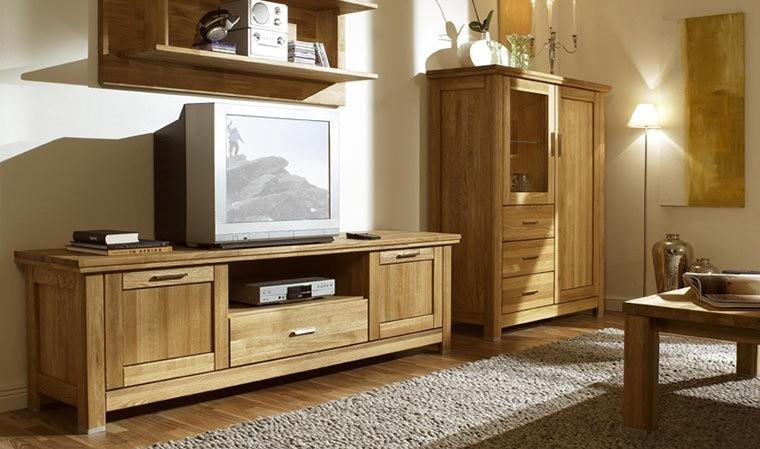 Meuble tv en chêne massif haut de gamme