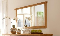 Miroir en chêne massif rectangulaire