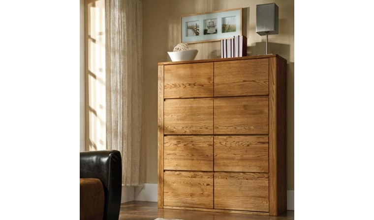 buffet en bois massif haut de gamme 4 portes urban. Black Bedroom Furniture Sets. Home Design Ideas