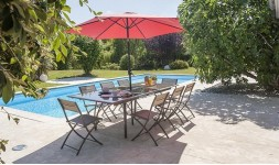 Parasol inclinable rond