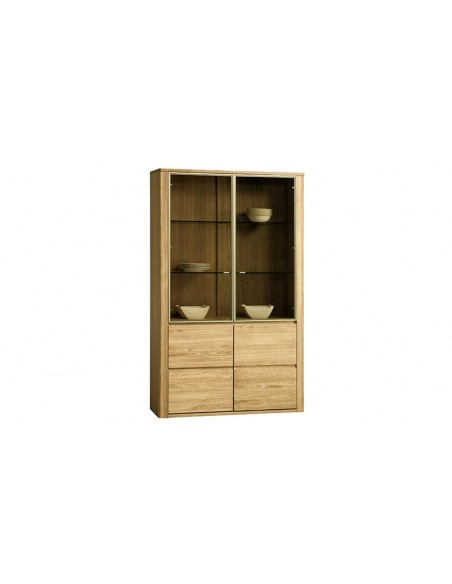 Vaisselier contemporain en bois 4 portes