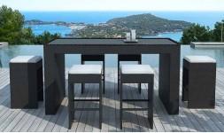 Bar de jardin design noir