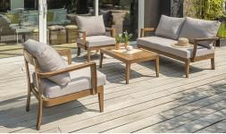 salon jardin aluminium imitation bois