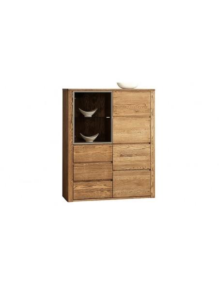 Vaisselier en chêne 3 portes et 3 tiroirs