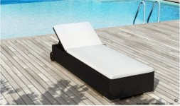 Lit de piscine design noir