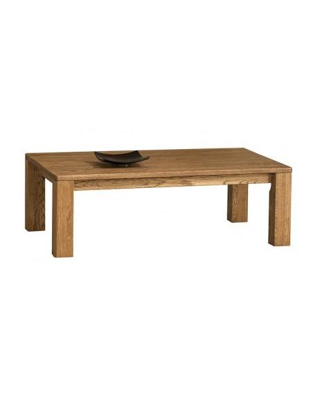 Table basse rectangulaire en chêne 120 cm
