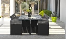 Salon jardin encastrable 8 fauteuils
