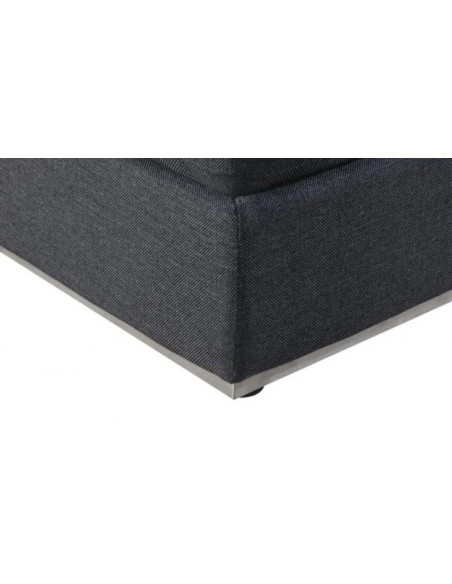 pouf tissu gris foncé