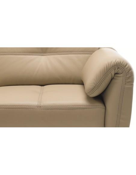 Fauteuil cuir DEAUVILLE - Fauteuil cuir confortable