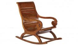 Rocking chair en bois massif