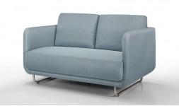 Canapé design bleu 2 places pieds en acier