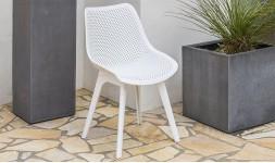chaise jardin pvc blanc