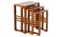 Tables gigognes bois massif