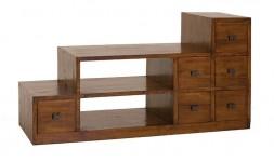 Meuble tv escalier en bois