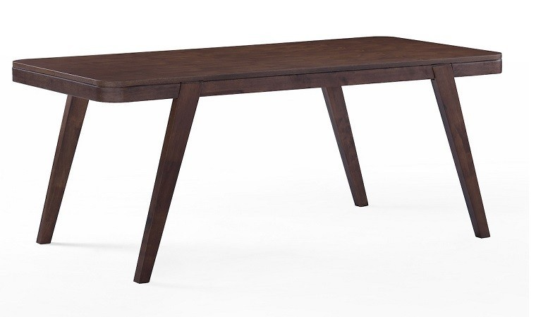 Table moderne 180 cm en bois massif noyer fonc deauville - Table a manger discount ...