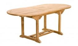 Table de jardin en teck avec rallonge