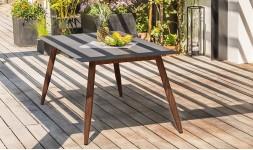 Table jardin aluminium marron