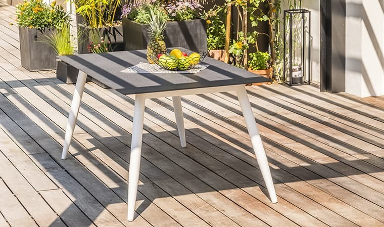 Table jardin imitation beton