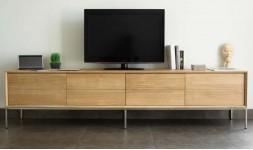 long meuble tv chêne